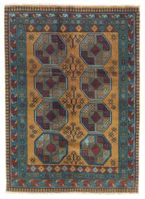 Afghan Alfombra 122X170 Oriental Hecha A Mano Gris Oscuro/Marrón Claro (Lana, Afganistán)