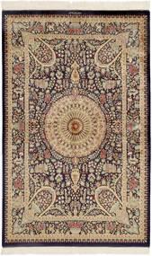 Ghom De Seda Alfombra 99X157 Oriental Hecha A Mano Marrón Oscuro/Marrón (Seda, Persia/Irán)