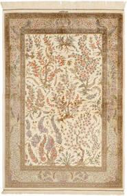 Ghom De Seda Alfombra 100X148 Oriental Hecha A Mano Beige/Marrón Claro (Seda, Persia/Irán)