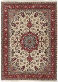 Tabriz 50 Raj Alfombra 155X211 Oriental Hecha A Mano Gris Claro/Rojo Oscuro (Lana/Seda, Persia/Irán)
