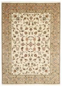 Tabriz 50 Raj Alfombra 147X206 Oriental Hecha A Mano Beige/Marrón Claro (Lana/Seda, Persia/Irán)