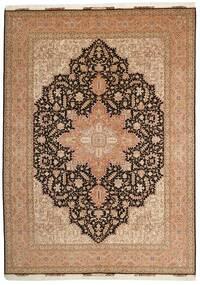 Tabriz 50 Raj Alfombra 248X347 Oriental Hecha A Mano Marrón/Marrón Oscuro (Lana/Seda, Persia/Irán)