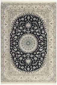 Nain 6La Alfombra 208X303 Oriental Hecha A Mano Gris Claro/Beige (Lana/Seda, Persia/Irán)