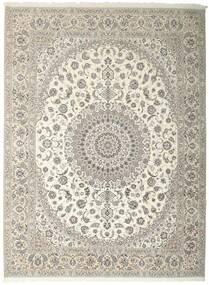 Nain 6La Alfombra 312X410 Oriental Hecha A Mano Gris Claro/Beige Grande (Lana/Seda, Persia/Irán)