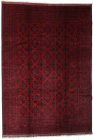 Afghan Khal Mohammadi Alfombra 204X289 Oriental Hecha A Mano Rojo Oscuro (Lana, Afganistán)