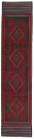 Kilim Golbarjasta Alfombra 58X250 Oriental Tejida A Mano Rojo Oscuro/Gris Oscuro (Lana, Afganistán)
