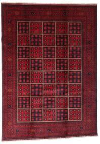 Afghan Khal Mohammadi Alfombra 203X284 Oriental Hecha A Mano Rojo Oscuro (Lana, Afganistán)