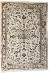 Keshan Alfombra 103X144 Oriental Hecha A Mano Gris Claro/Beige (Lana, Persia/Irán)