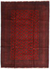 Afghan Alfombra 205X284 Oriental Hecha A Mano Rojo Oscuro/Marrón Oscuro (Lana, Afganistán)