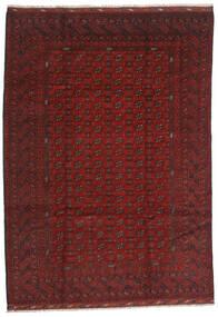Afghan Alfombra 206X289 Oriental Hecha A Mano Rojo Oscuro/Marrón Oscuro (Lana, Afganistán)