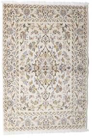 Keshan Alfombra 100X148 Oriental Hecha A Mano Gris Claro/Beige (Lana, Persia/Irán)