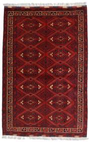 Kunduz Alfombra 99X150 Oriental Hecha A Mano Rojo Oscuro/Marrón Oscuro (Lana, Afganistán)