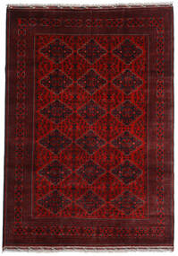 Kunduz Alfombra 200X284 Oriental Hecha A Mano Rojo Oscuro (Lana, Afganistán)