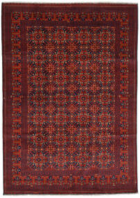 Kunduz Alfombra 207X292 Oriental Hecha A Mano Rojo Oscuro/Marrón Oscuro (Lana, Afganistán)