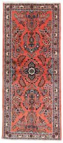 Hamadan Alfombra 85X198 Oriental Hecha A Mano Roja/Púrpura Oscuro (Lana, Persia/Irán)