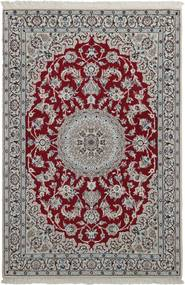 Nain 9La Alfombra 118X180 Oriental Hecha A Mano Gris Claro/Marrón Oscuro (Lana/Seda, Persia/Irán)