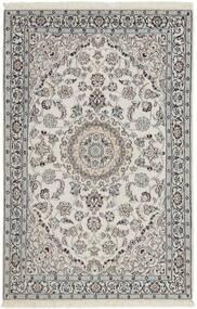 Nain 9La Alfombra 116X183 Oriental Hecha A Mano Gris Claro/Gris Oscuro (Lana/Seda, Persia/Irán)