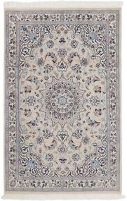 Nain 9La Alfombra 116X180 Oriental Hecha A Mano Gris Claro/Marrón Oscuro (Lana/Seda, Persia/Irán)