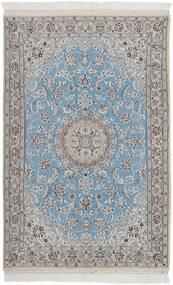 Nain 9La Alfombra 115X178 Oriental Hecha A Mano Gris Claro/Azul Claro (Lana/Seda, Persia/Irán)
