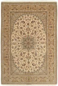 Isfahan Urdimbre De Seda Alfombra 208X306 Oriental Hecha A Mano Marrón Claro/Beige Oscuro (Lana/Seda, Persia/Irán)
