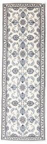 Nain Alfombra 78X248 Oriental Hecha A Mano Blanco/Crema/Gris Claro (Lana, Persia/Irán)