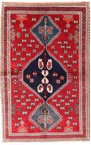Gashgai Alfombra 136X214 Oriental Hecha A Mano Roja/Púrpura Oscuro (Lana, Persia/Irán)