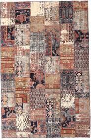 Patchwork - Persien/Iran Alfombra 195X298 Moderna Hecha A Mano Rojo Oscuro/Beige (Lana, Persia/Irán)