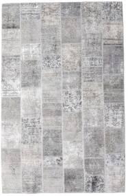 Patchwork - Persien/Iran Alfombra 196X301 Moderna Hecha A Mano Gris Claro/Blanco/Crema (Lana, Persia/Irán)