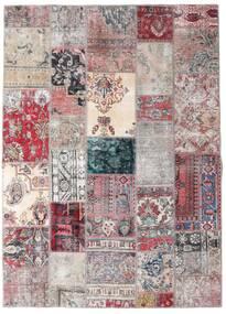 Patchwork - Persien/Iran Alfombra 173X242 Moderna Hecha A Mano Gris Claro/Violeta Claro (Lana, Persia/Irán)