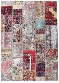Patchwork - Persien/Iran Alfombra 172X242 Moderna Hecha A Mano Gris Claro/Rosa Claro (Lana, Persia/Irán)