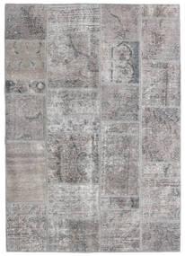 Patchwork - Persien/Iran Alfombra 140X200 Moderna Hecha A Mano Gris Claro/Gris Oscuro (Lana, Persia/Irán)