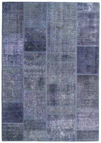 Patchwork - Persien/Iran Alfombra 140X200 Moderna Hecha A Mano Violeta Claro/Azul (Lana, Persia/Irán)