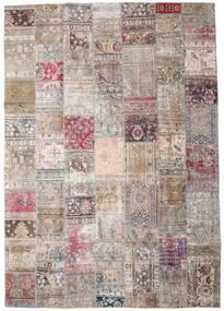 Patchwork - Persien/Iran Alfombra 248X352 Moderna Hecha A Mano Gris Claro/Rosa (Lana, Persia/Irán)