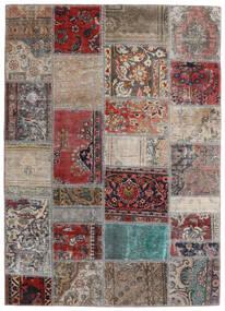 Patchwork - Persien/Iran Alfombra 141X198 Moderna Hecha A Mano Gris Claro/Rojo Oscuro (Lana, Persia/Irán)