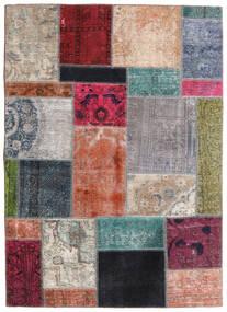Patchwork - Persien/Iran Alfombra 141X197 Moderna Hecha A Mano Gris Claro/Gris Oscuro (Lana, Persia/Irán)