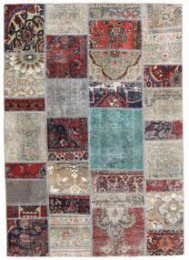 Patchwork - Persien/Iran Alfombra 141X202 Moderna Hecha A Mano Gris Claro/Gris Oscuro (Lana, Persia/Irán)