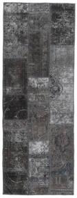 Patchwork - Persien/Iran Alfombra 76X205 Moderna Hecha A Mano Gris Oscuro/Negro (Lana, Persia/Irán)