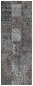 Patchwork - Persien/Iran Alfombra 76X204 Moderna Hecha A Mano Gris Oscuro/Gris Claro (Lana, Persia/Irán)