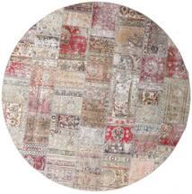 Patchwork - Persien/Iran Alfombra Ø 250 Moderna Tejida A Mano Redonda Gris Claro/Violeta Claro Grande (Lana, Persia/Irán)