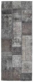 Patchwork - Persien/Iran Alfombra 77X198 Moderna Hecha A Mano Gris Oscuro/Gris Claro (Lana, Persia/Irán)