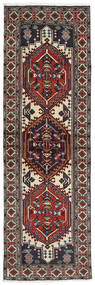 Ardabil Alfombra 64X201 Oriental Hecha A Mano Rojo Oscuro/Negro (Lana, Persia/Irán)