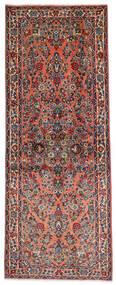 Sarough Alfombra 81X204 Oriental Hecha A Mano Marrón Oscuro/Marrón Claro (Lana, Persia/Irán)