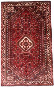 Shiraz Alfombra 156X248 Oriental Hecha A Mano Rojo Oscuro/Óxido/Roja (Lana, Persia/Irán)