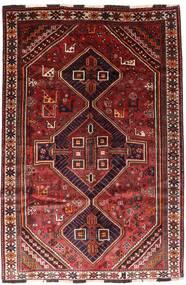 Shiraz Alfombra 166X246 Oriental Hecha A Mano Rojo Oscuro/Óxido/Roja (Lana, Persia/Irán)