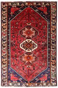 Shiraz Alfombra 165X250 Oriental Hecha A Mano Rojo Oscuro/Óxido/Roja (Lana, Persia/Irán)