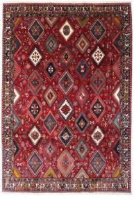 Yalameh Alfombra 200X292 Oriental Hecha A Mano Rojo Oscuro (Lana, Persia/Irán)