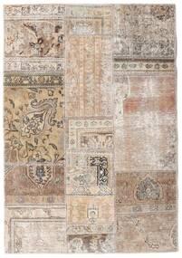 Patchwork - Persien/Iran Alfombra 108X156 Moderna Hecha A Mano Gris Claro/Blanco/Crema (Lana, Persia/Irán)