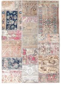 Patchwork - Persien/Iran Alfombra 107X153 Moderna Hecha A Mano Gris Claro/Rosa Claro (Lana, Persia/Irán)