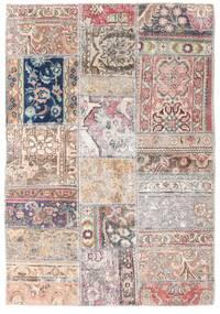 Patchwork - Persien/Iran Alfombra 109X157 Moderna Hecha A Mano Gris Claro/Beige (Lana, Persia/Irán)