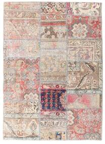 Patchwork - Persien/Iran Alfombra 107X150 Moderna Hecha A Mano Gris Claro/Blanco/Crema (Lana, Persia/Irán)